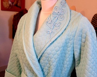FAB 1940/50's GAYMODE Quilted Full Length Robe / Exquisite  Detail