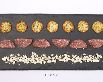 """Medium Slate Cheese Board - 16"""" x 8"""" OPTIONAL personalization comes with one soapstone chalk"""