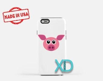 Cartoon Pig iPhone Case, Animal iPhone Case, Cartoon Pig iPhone 8 Case, iPhone 6s Case, iPhone 7 Case, Phone Case, iPhone X Case, SE Case