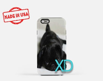 Puppy iPhone Case, Pug iPhone Case, Puppy iPhone 8 Case, iPhone 6s Case, iPhone 7 Case, Phone Case, iPhone X Case, SE Case Protective