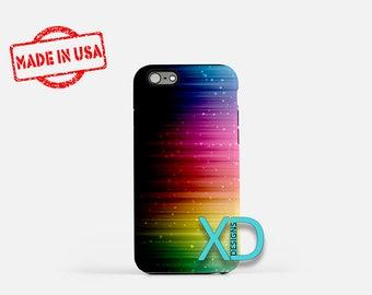 Rainbow Night Sky iPhone Case, Sky iPhone Case, Sound Wave iPhone 8 Case, iPhone 6s Case, iPhone 7 Case, Phone Case, iPhone X Case, SE Case