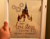 Custom Foiled Silhouette in a Floating Frame