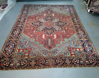 Persian Rug - 1930s Hand-Knotted Antique Heriz (3572)