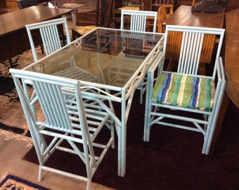 1950's Faux Bamboo Table and Chairs beach living!