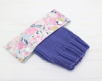 Floral Rose DPN Holder, DPN Cozy, Knitting Needle Holder, Circular Needle Holder, 6 inch DPN Cozy