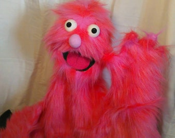 Pink Monster Live Hand Puppet
