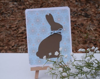 Easter Card: Chocolate Easter Bunny Card Handmade Card (Chocolate Lovers Card)