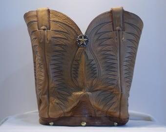 Tan Tony Lama boot purse