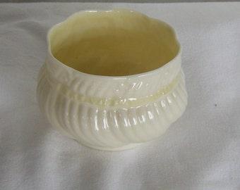 Belleek Porcelain Ribbon and Bow Sugar Bowl