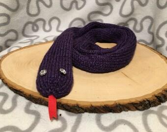 Purple Snake Scarf