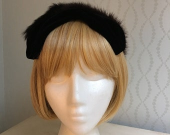 Mink and Velvet Mini Hat by Coquette