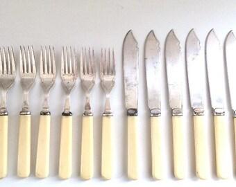 Vintage cutlery set-EPNS flatware. Dessert set/ fish set
