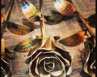 Stainless Steel Metal Rose