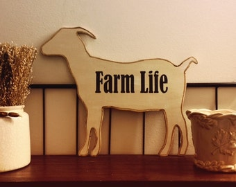 GOAT Sign | Farm Life | Farmhouse Decor