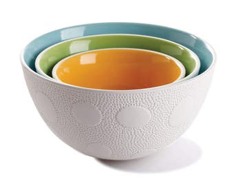 Textured nesting bowls- set of 3