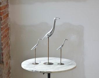 Mid Century Crane Sculpture Aluminum Curtis Jere Manner