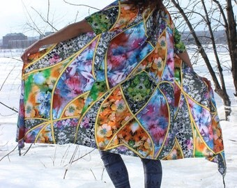 psychedelic floral robe