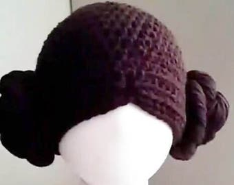 Princess Leia Style Crocheted Baby Hat From Star Wars Baby Princess Leia Hat Star Wars