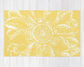 yellow flower area rug yellow floral rug modern flower rug yellow area rug