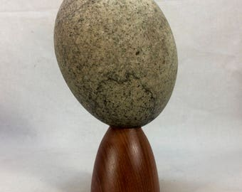 Zen Garden Rock Sculpture Wood base