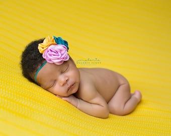 Newborn Photography Fabric Backdrop - Yale Knit Backdrop in Yellow - 2 Yards - Photography Backdrop, Posing Fabric, Newborn Prop