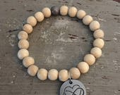 Our special 'Dancing Angels' BG 8mm wood bracelet dainty necklace handmade with a lot of extra love