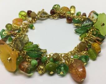 Autumn Themed charm bracelet.