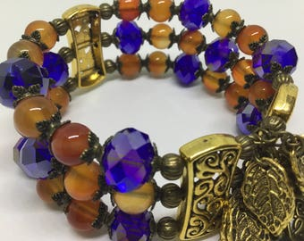 Bohemian influenced three tiered Bracelet.