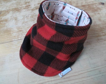 Plaid Neck Warmer, Toddler Neck Warmer, Reversible neckwarmer, velcro neckwarmer, kids neck warmer, buffalo check, cache cou enfant