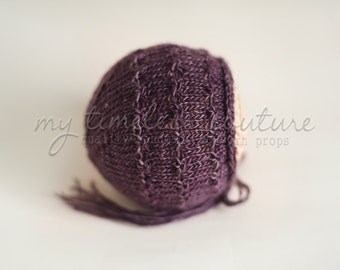 Newborn {Florence} Knit Bonnet - Newborn Photography Prop - Several Color Options