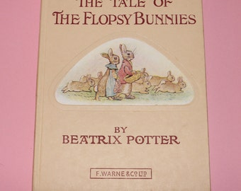 Beatrix Potter Collectible The Tale of the Flopsy Bunnies  c. 1950's