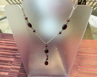 "Sterling Silver 18"" Beaded necklace"