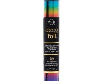 Deco Foil Transfer Sheets -  Rainbow