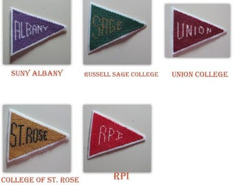 Cross Stitch college Pennant Magnets