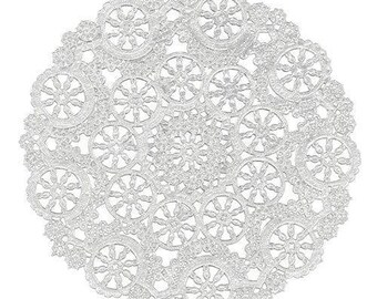 "100 - 4"" WHITE MEDALLION Paper Lace Doilies 