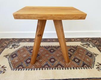 Solid Oak Side Table Solid Oak Legs Free Engraving Free P&P One Off Rustic Oak