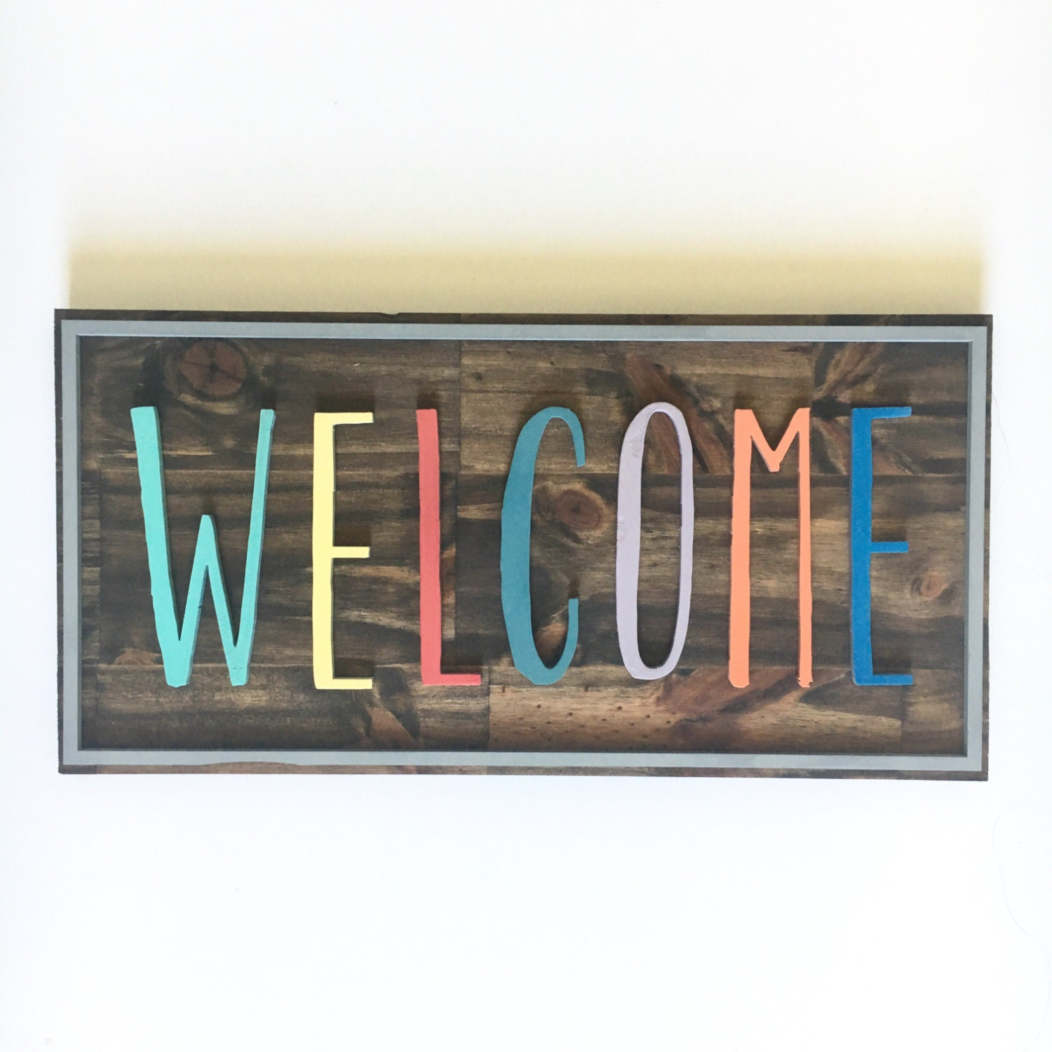 Playroom Wall Decor Custom Color Welcome Sign Playroom
