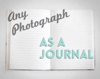 Any Photograph as a journal - Custom Gift - Custom Stationary - Journal for Writing - Cute Journal - Hard Cover Journal - Notebook