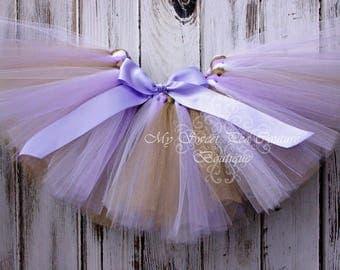 Lavender, Gold & White Tutu- Princess Tutu- Cake Smash Tutu- Baby Tutu- Toddler Tutu- Birthday Tutu- First Birthday Tutu- Photo Prop