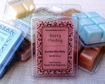 Berry Medley Wax Melts - Fresh picked blueberry, blackberry and strawberry Home Fragrance