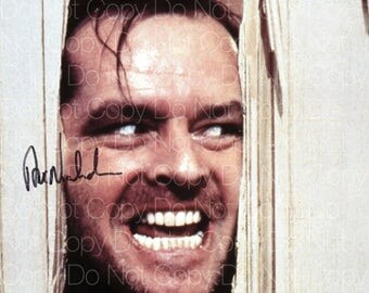 The Shining signed Jack Nicholson Here's Johnny Red Rum 8X10 photo picture signed autograph RP