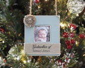 Godparent Godmother Godfather Christmas GIFT Ornament Personalized Photo Ornament