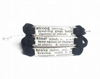 1 word mantra: custom dictionary bracelet