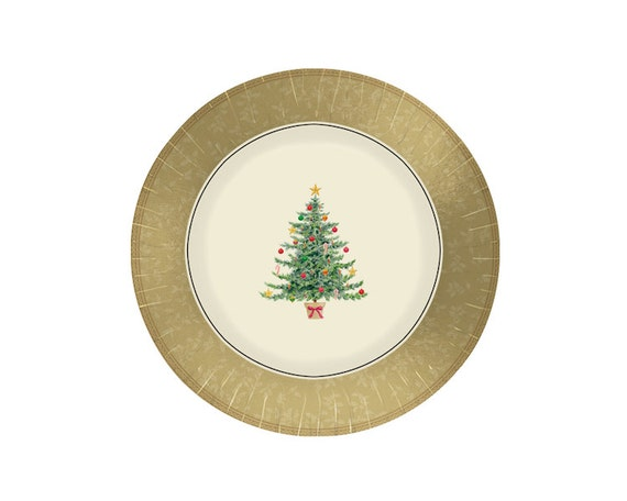 Il_570xn  sc 1 st  Catch My Party & Classic Victorian Christmas Paper Dinner Plates - 12 inch - Party ...
