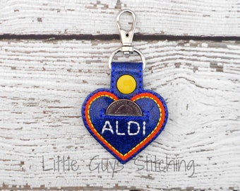 Quarter Keeper - Aldi Quarter - ALDI Keychain - Quarter Holder - Aldi Quarter Keeper - Key Chain - Gift for Her - Gift for Him
