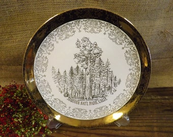 Sequoia National Park  Souvenir Plate General Sherman Tree Souvenir