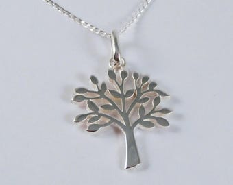 Sterling Silver Tree Of Life Necklace, Sterling Silver Tree Necklace, Tree Necklace, Sterling Silver Life Necklace, Forest Necklace, Tree