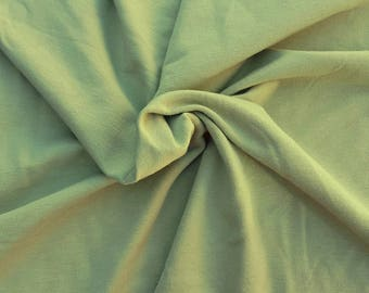 Stretchy French Terry Knit Fabric by Yard Green 4 Way Stretch Heavy Weight 10/21/16