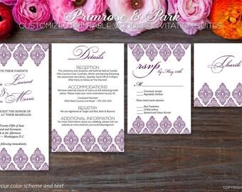 Wedding Invitation Suite // Indian Wedding Invitation // Printable Wedding Invitation // Wedding Invitation Kit
