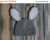 WINTER SALE Easter Bunny Crochet Hat, Baby Bunny Hat, Boy Bunny Hat, Girl Bunny Hat, Boy Girl Bunny Hat, Easter Bunny Crochet beanie,Made to